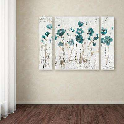 """24 in. x 32 in. """"Abstract Balance VI Blue"""" by Lisa Audit Printed Canvas Wall Art"""