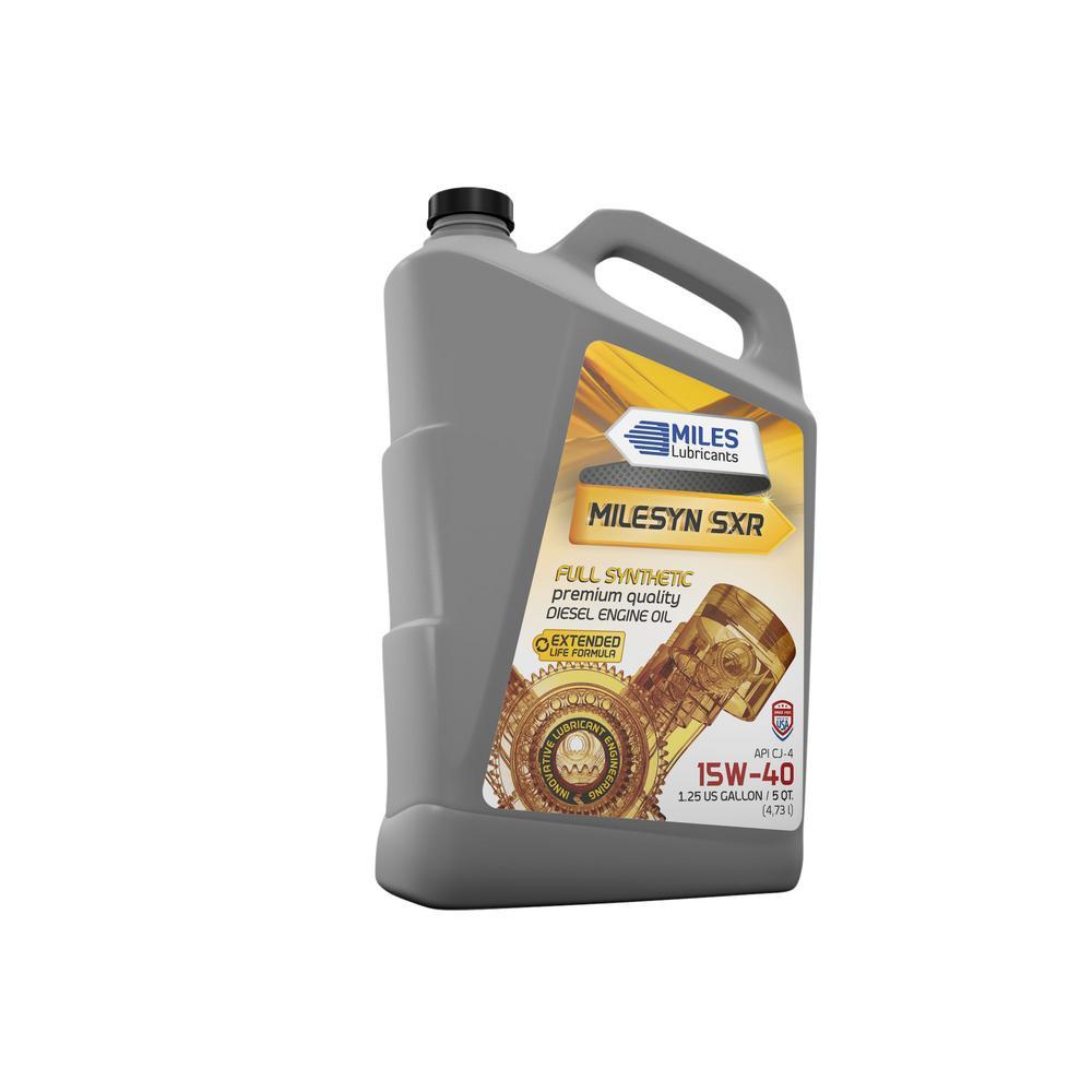 Milesyn SXR 15W-40 API CK-4, 5 Qt. Full Synthetic Diesel Motor Oil Bottle (Pack of 4)