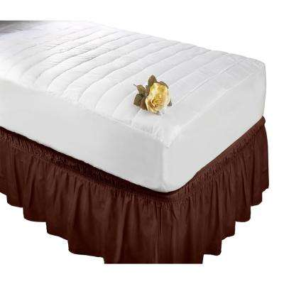 Chocolate Twin/Full Bed Ruffle