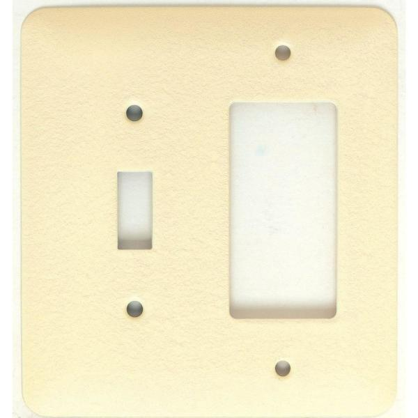 Mulberry Princess 2 Gang Toggle Gfi Wall Plate Ivory Wrinkle 79432 The Home Depot