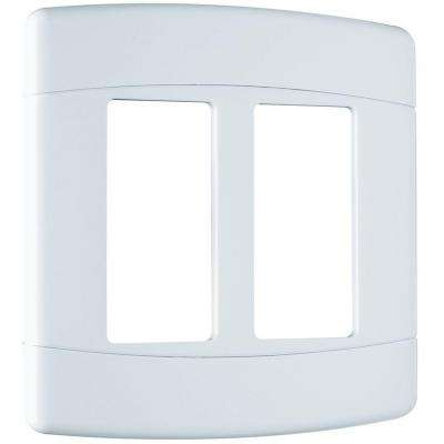 Signature 2 Gang Curved 2 Rocker Wall Plate - White