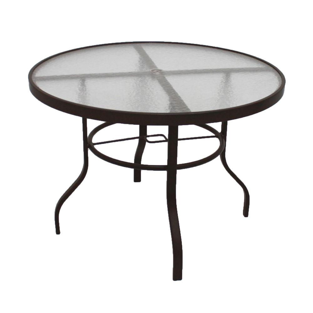 Marco Island 42 in. Dark Cafe Brown Acrylic Top Commercial Metal