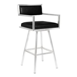 Astounding Armen Living Dylan 30 In Black Swivel Bar Stool Ncnpc Chair Design For Home Ncnpcorg