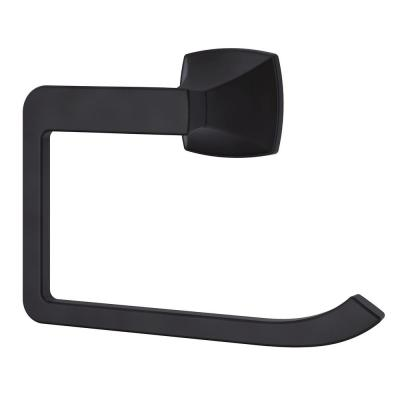 Venturi Towel Ring in Matte Black