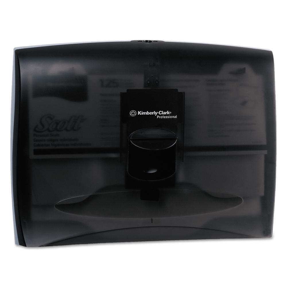 17-1/2 in. x 3-1/4 in. x 13-1/4 in. In-Sight Plastic Toilet Seat Cover Dispenser in Smoke/Gray