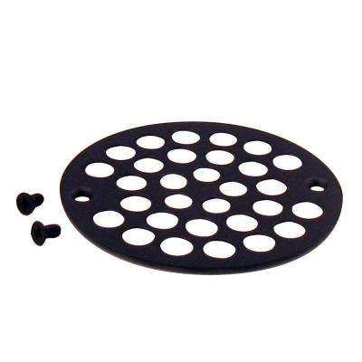 4-1/4 in. O.D. Shower Strainer Plastic-Oddities Style in Oil Rubbed Bronze