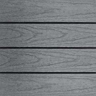 UltraShield Naturale 1 ft. x 1 ft. Quick Deck Outdoor Composite Deck Tile Sample in Westminster Gray