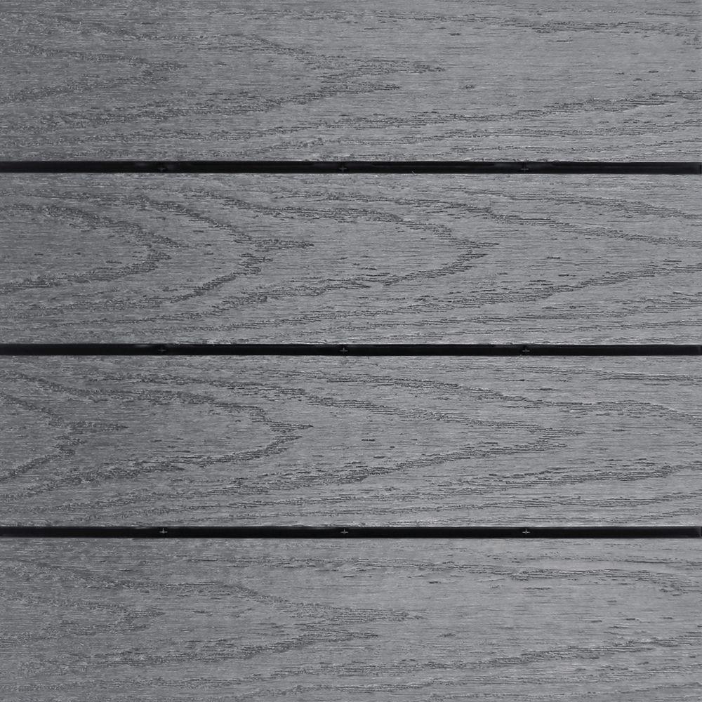 UltraShield Naturale 1 ft. x 1 ft. Quick Deck Outdoor Composite Deck Tile Sample in Westminster Gray