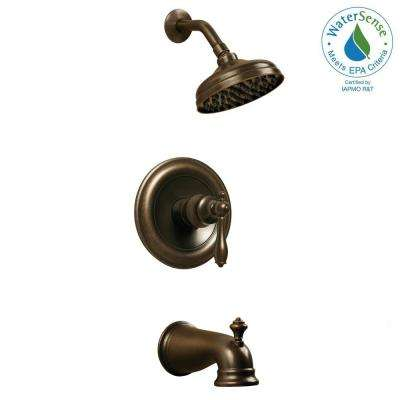 Estates Single-Handle 1-Spray Tub and Shower Faucet in Bronze (Valve Included)
