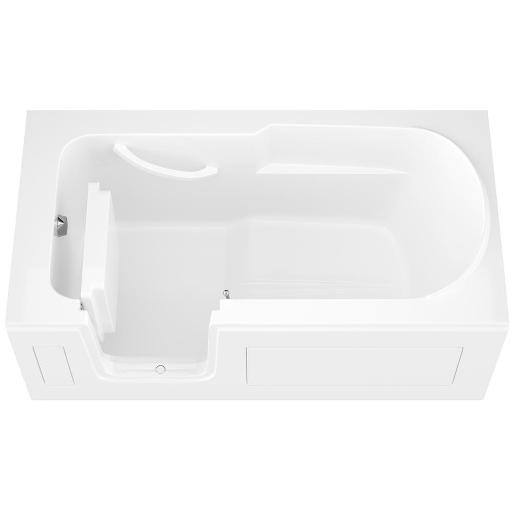 Universal Tubs HD Series 60 in. Left Drain Step-In Walk-In Soaking Bath Tub with Low Entry Threshold in White was $2290.99 now $1832.79 (20.0% off)