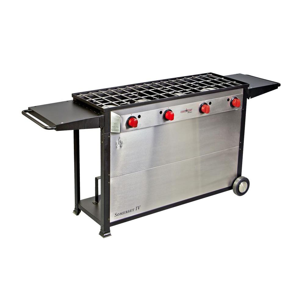 Camp Chef Somerset 4-Burner Propane Gas Grill in Stainless Steel