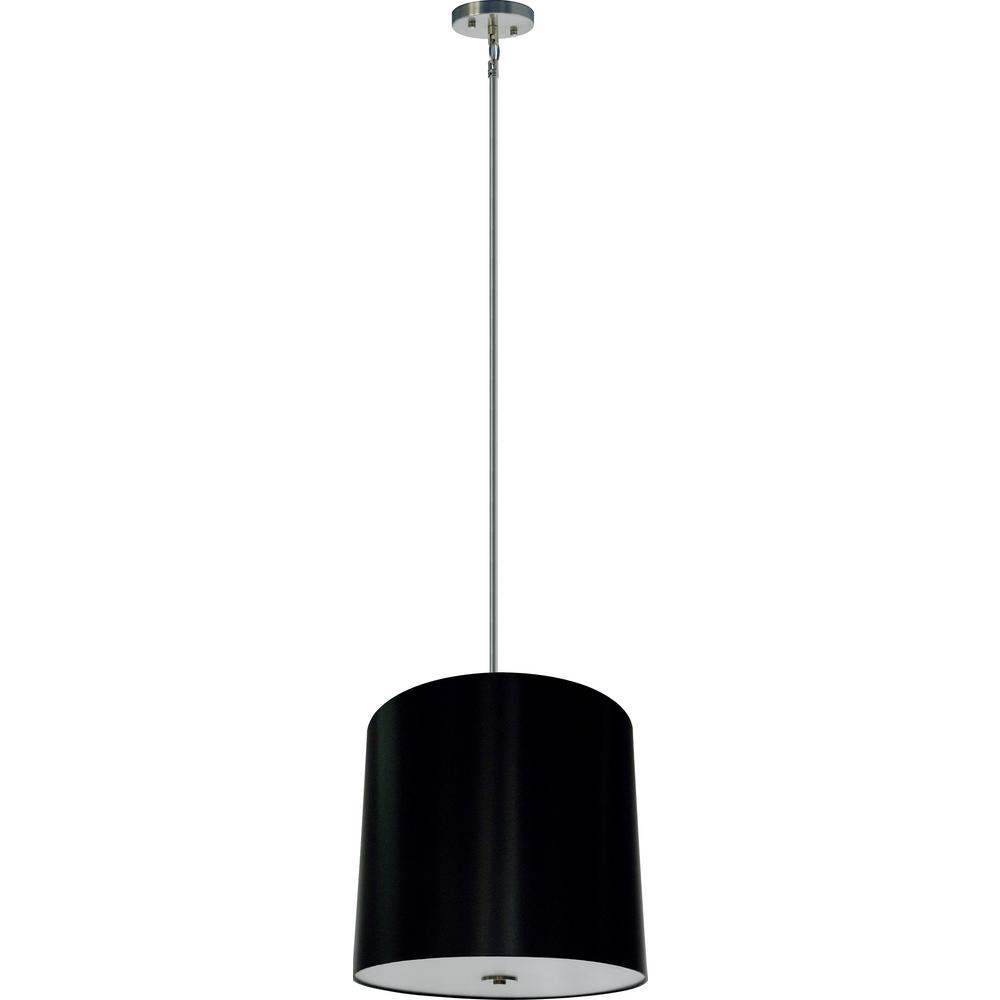 Illumine 5-Light Satin Steel Chandelier with Black Stealth Fabric Shade  sc 1 st  The Home Depot & Illumine 5-Light Satin Steel Chandelier with Black Stealth Fabric ... azcodes.com