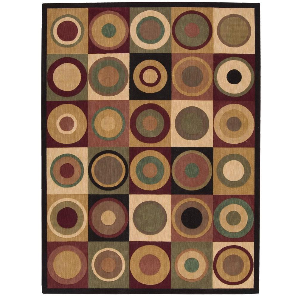 Nourison Overstock Parallels Multicolor 5 ft. 6 in. x 7 ft. 5 in. Area Rug