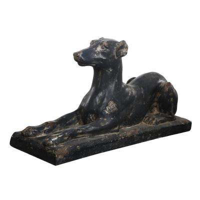 15 in. Magnesia Dog Statue