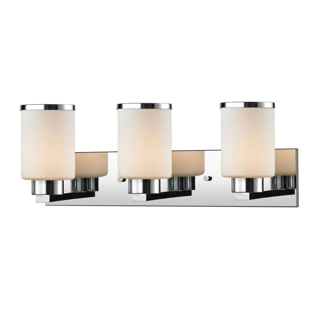 Filament Design Vanity Lighting : Filament Design Empire 3-Light Chrome Bath Vanity Light-CLI-JB-028300 - The Home Depot
