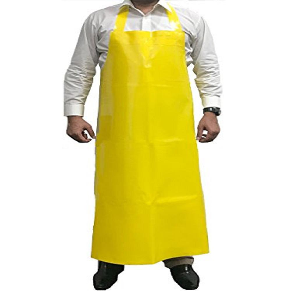 KLEEN HANDLER Yellow Apron TPU Waterproof Bib Adjustable Neck 11.8 Mil