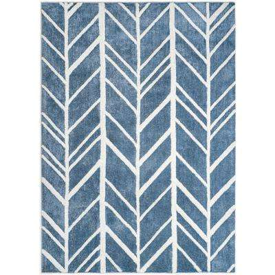 Alder Blue 2 ft. 6 in. x 8 ft. Area Rug