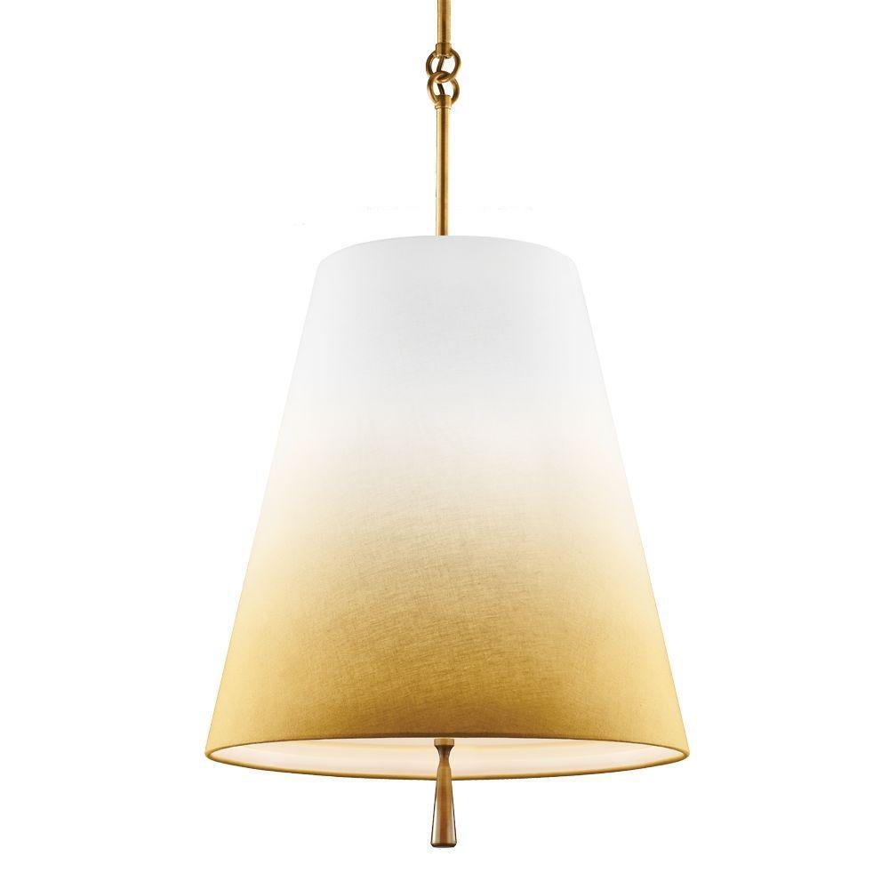 Tori 3-Light Bali Brass Shade Pendant