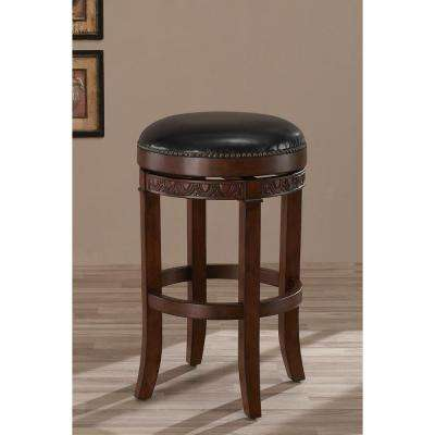 Portofino 26 in. Suede Cushioned Bar Stool