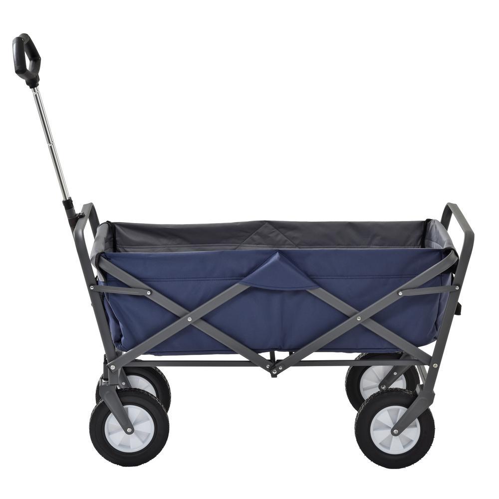 3.5 cu. ft. 19.75 in. W Folding Utility Cart