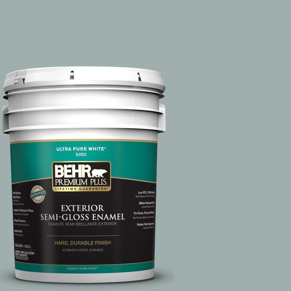 BEHR Premium Plus 5-gal. #N430-3 Garden Vista Semi-Gloss Enamel Exterior Paint