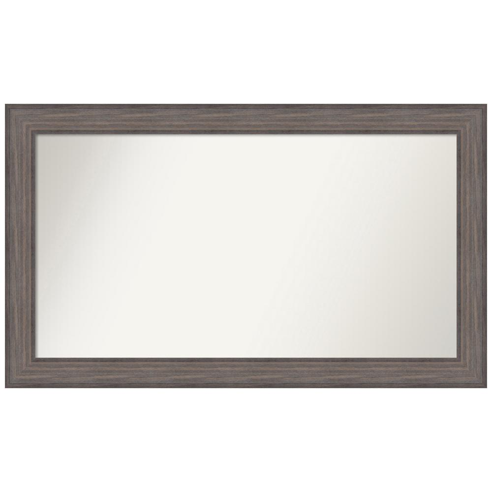 Amanti Art Choose Your Custom Size 46.25 in. x 27.25 in. Country Barnwood Decorative Wall Mirror was $529.95 now $254.9 (52.0% off)