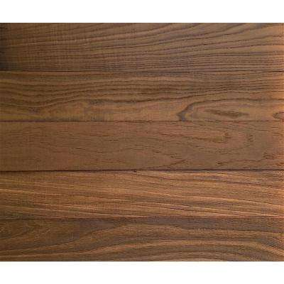 3D Grain Wood 5/16 in. x 4 in. x 24 in. Reclaimed Wood Oak Decorative Wall Planks in Brown Color (10 sq. ft. / Case)