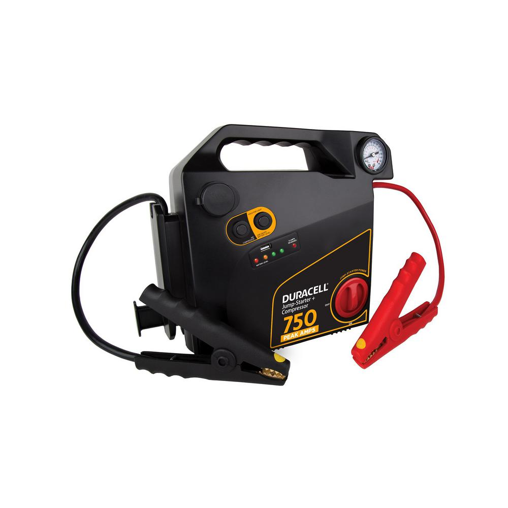 Duracell 750 Amp Peak Emergency Jump Starter With