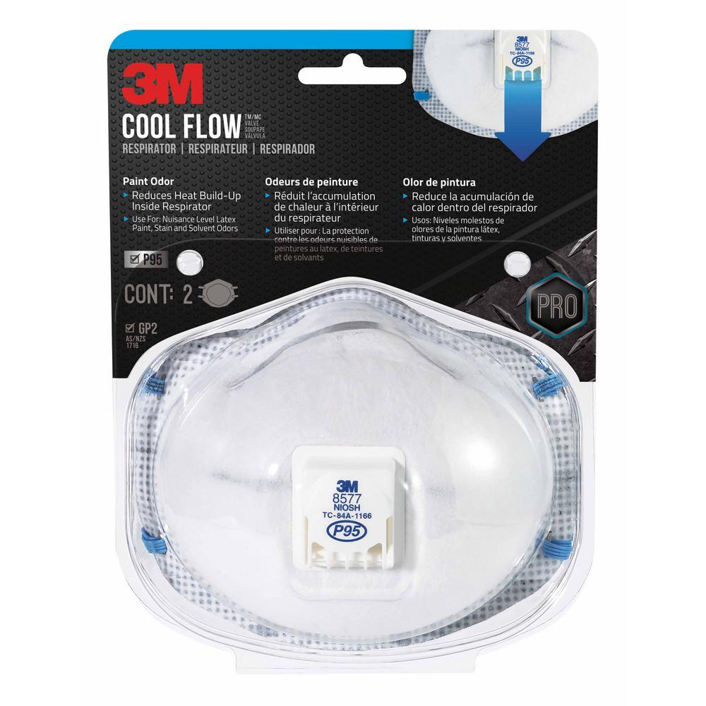 P95 Paint Odor Valved Respirator Mask (2-Pack)