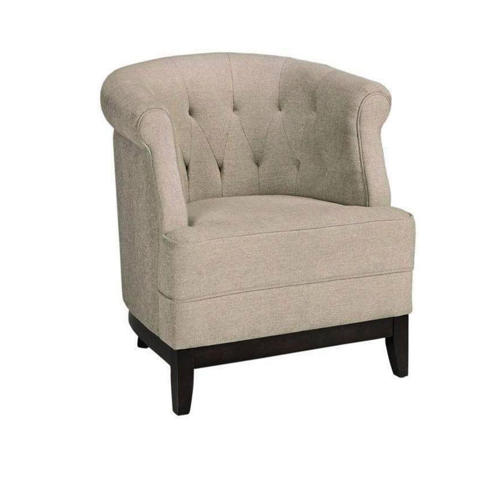 Lovely Home Decorators Collection Emma Charcoal Polyester Chenille Tufted Arm Chair 7159200270    The Home Depot