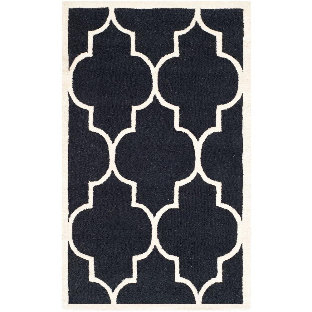 Safavieh Cambridge Black/Ivory 4 ft. x 6 ft. Area Rug