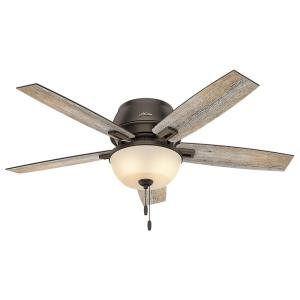 Hunter Donegan 52 inch LED Low Profile Indoor Onyx Bengal Bronze Ceiling Fan by Hunter