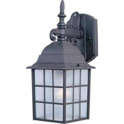 North Church 1-Light Black Outdoor Wall Mount