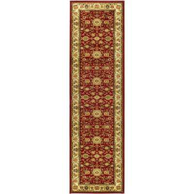 Lyndhurst Red/Ivory 2 ft. x 12 ft. Runner Rug