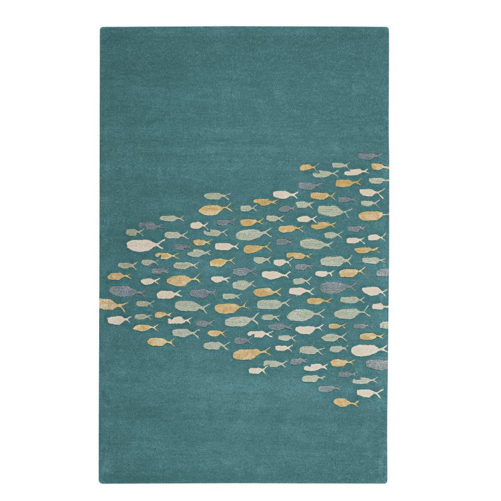 Home decorators collection school aruba blue 2 ft x 3 ft for Home decorators rugs blue
