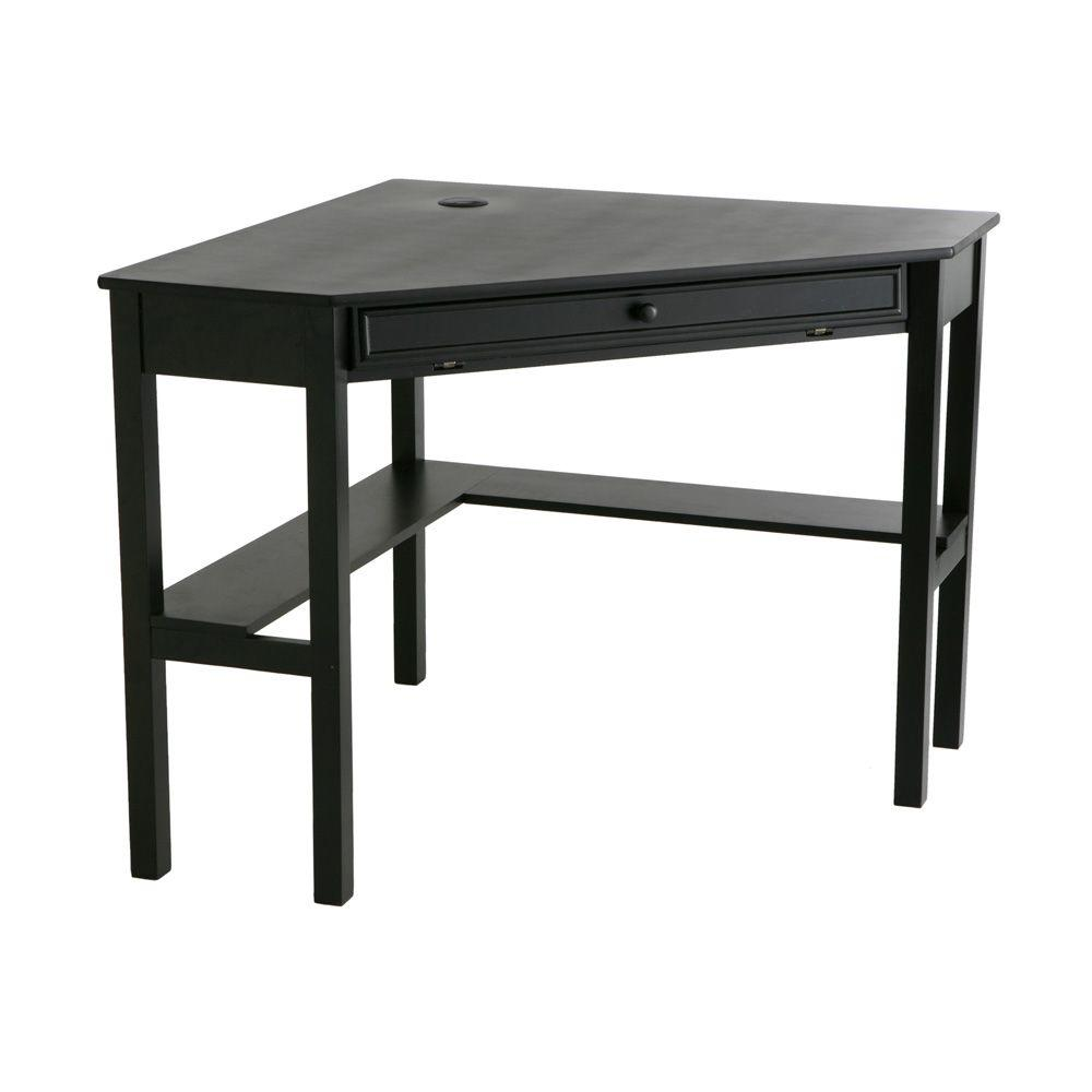 Southern Enterprises Black Desk Ho6643 The Home Depot Small Wooden Computer