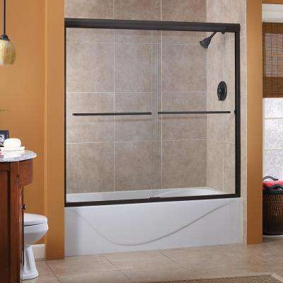 Cove 60 in. x 60 in. Semi-Framed Sliding Tub Door in Oil Rubbed Bronze with 1/4 in. Clear Glass