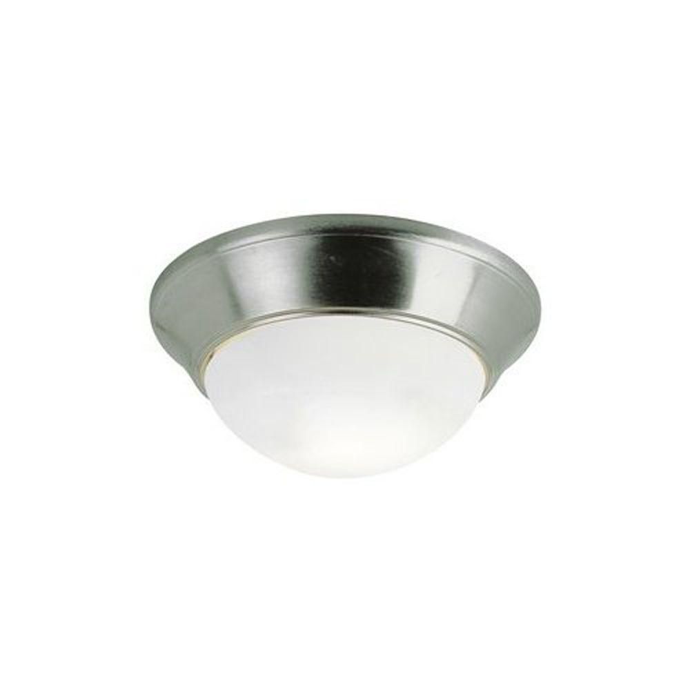 Bel Air Lighting Stewart 2-Light Brushed Nickel Incandescent Ceiling Flushmount