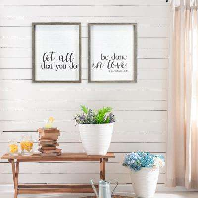 """Done in Love"" Duo by KDM Framed Printed Wall Art"