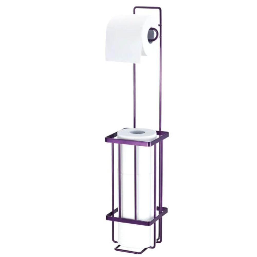 hopeful freestanding toilet paper holder in purple ba110040 4np the home depot. Black Bedroom Furniture Sets. Home Design Ideas
