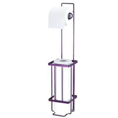 Freestanding Toilet Paper Holder in Purple