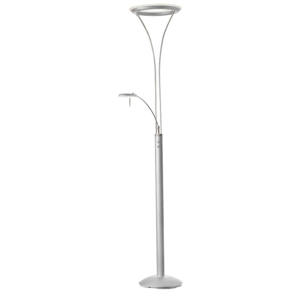 Radionic Hi Tech Rowtridia 23 in. Satin Chrome Floor Lamp