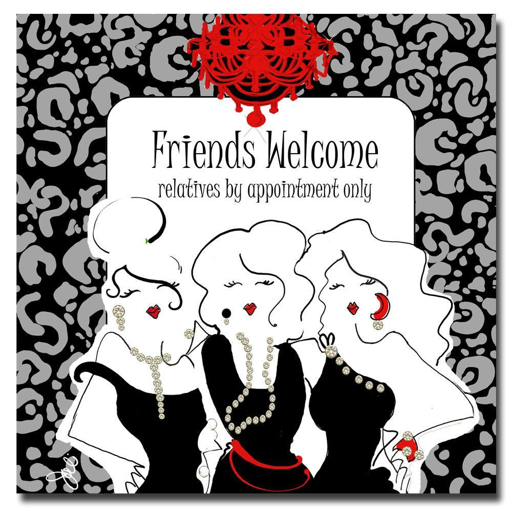 Trademark Fine Art 35 in. x 35 in. Friends Welcome Canvas Art-DISCONTINUED