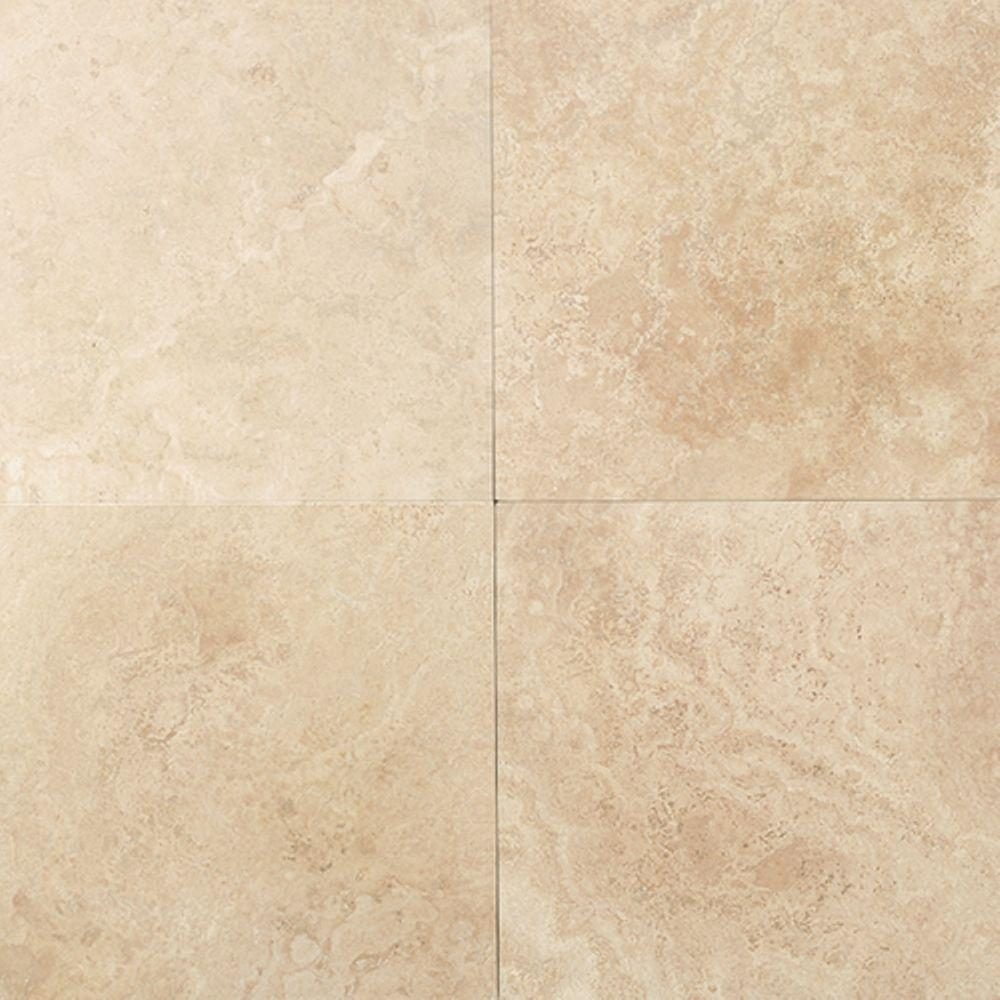 Daltile Travertine Mediterranean Ivory 12 In X 12 In