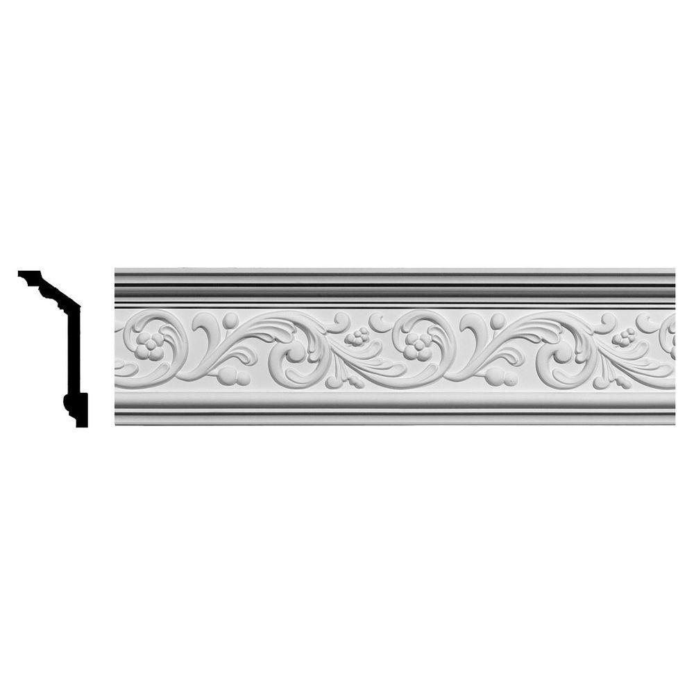 Ekena Millwork 2-1/2 in. x 5-7/8 in. x 94-5/8 in. Polyurethane Kent Crown Moulding