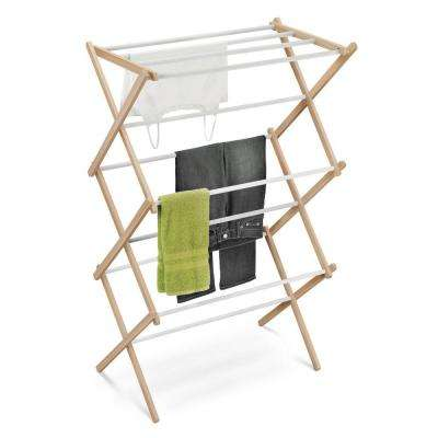 Wood Accordion Drying Rack