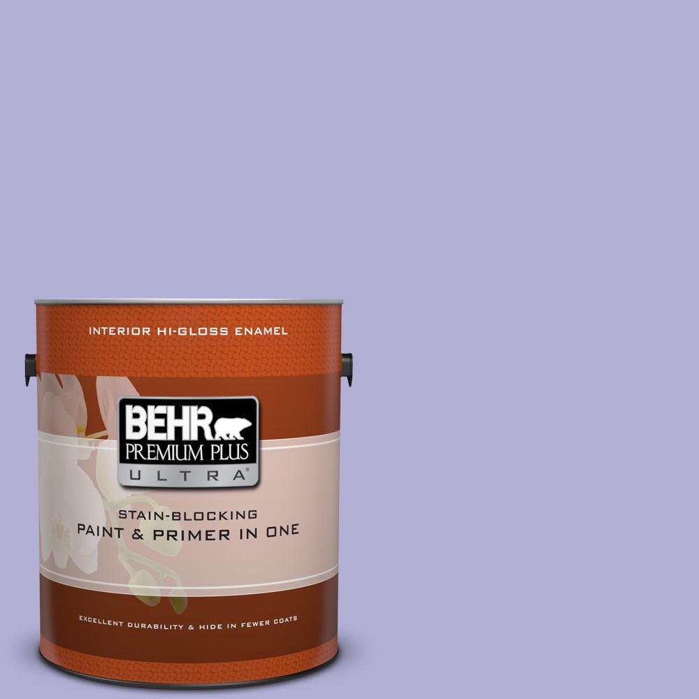 1 gal. #630B-4 Freesia Purple Hi-Gloss Enamel Interior Paint