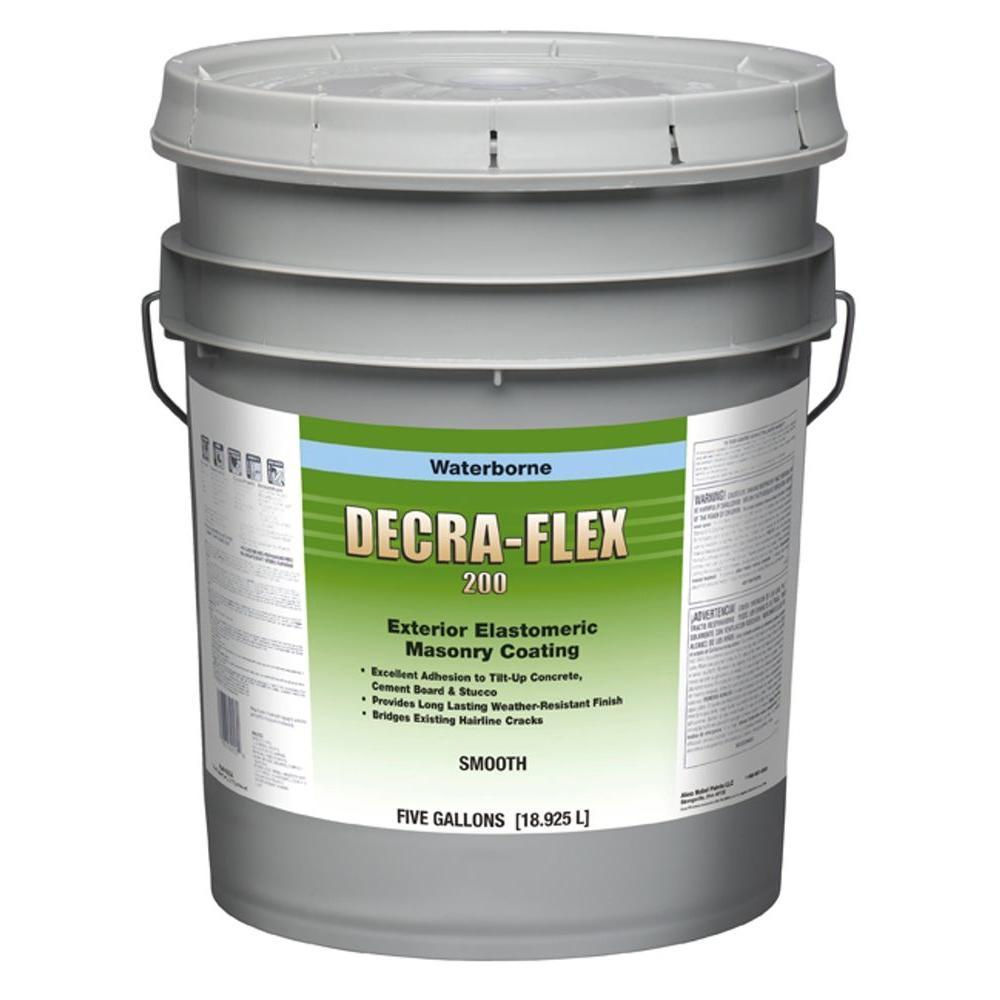 DecraFlex 5 gal. Smooth Acrylic White Exterior Elastomeric Masonry Coating