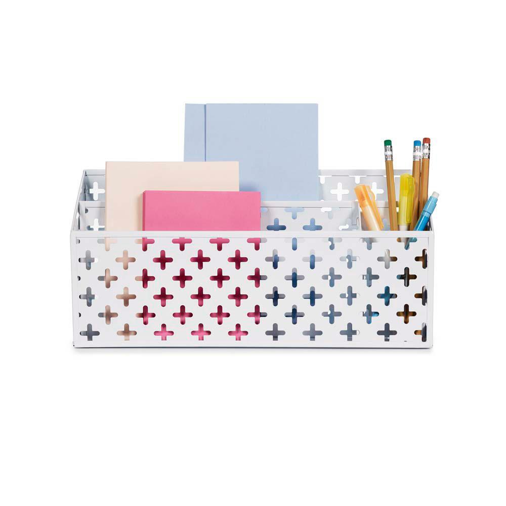 Euler Desk Organizer, White
