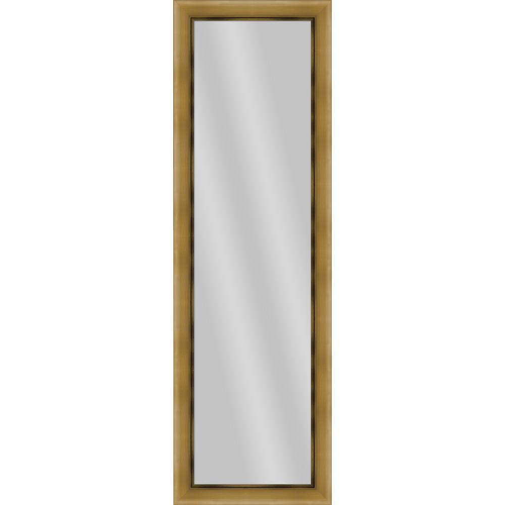 52.25 in. x 16.25 in. Antique Gold Framed Mirror